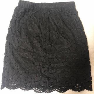 ミスティウーマン(mysty woman)の総レーススカート(ひざ丈スカート)