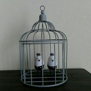 フランフラン(Francfranc)のアイアン 鳥かご 韓国 インテリア オブジェ(置物)