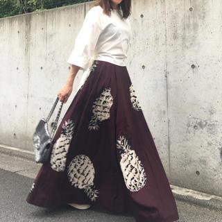 エムエスジイエム(MSGM)のMSGMパイナップル柄ロングボリュームスカート(ロングスカート)