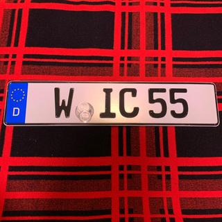 AUDI - 55 本物 ユーロナンバープレート ドイツ BMW ベンツ アウディポルシェ