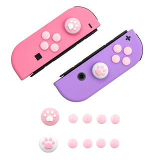 ニンテンドースイッチ(Nintendo Switch)の任天堂スイッチ ジョイコンスティックカバー ボタンカバー ピンク(家庭用ゲーム機本体)