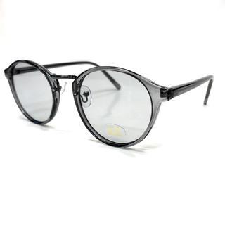 クリアフレームボストン型 サングラス メンズ レディース兼用グレー(サングラス/メガネ)