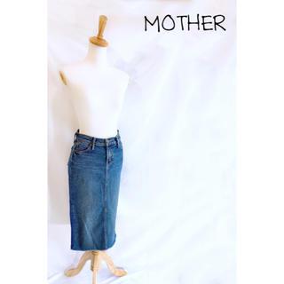 マザー(mother)の☻︎マザー☻︎未使用バックスリット カットオフ ミディ丈デニムスカート(ひざ丈スカート)