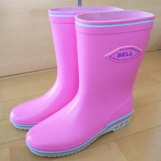 アサヒ(アサヒ)の長靴*女児*ASAHI BELL 23cm*レインブーツ*ピンク(長靴/レインシューズ)