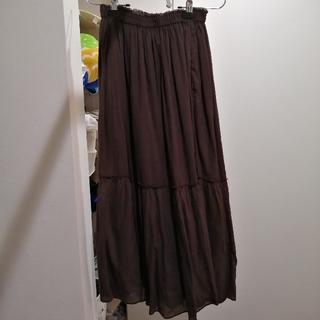 フレームワーク(FRAMeWORK)のFRAMe WORK 36サイズ スカート ブラウン コットン ポケット有(ロングスカート)