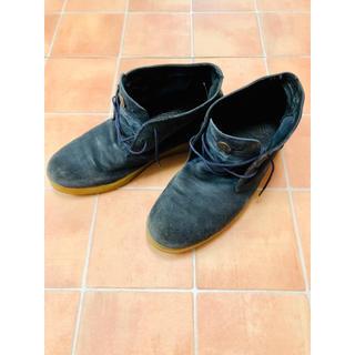 ディーゼル(DIESEL)の希少 ディーゼル diesel ブーツ スエード 44 ブルー ネイビー 紺色(ブーツ)