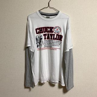 コンバース(CONVERSE)のconverse チャックテーラー Tシャツ L  90s(Tシャツ/カットソー(七分/長袖))