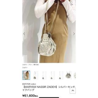 エディットフォールル(EDIT.FOR LULU)のmaryam  nassir zadehシルバー巾着バック 完売品(ショルダーバッグ)