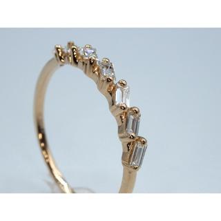 本物K18PG 0.24ctダイヤモンド リング 送料無料(リング(指輪))