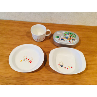 familiar - ファミリア 食器 お皿 ノリタケ & お弁当箱 4点セット