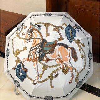 Hermes - HERMES 白 折りたたみ傘