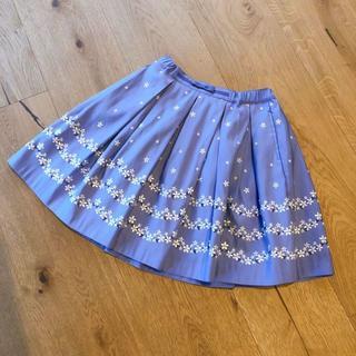kumikyoku(組曲) - 新品 組曲 スカート 紫 刺繍 110-120