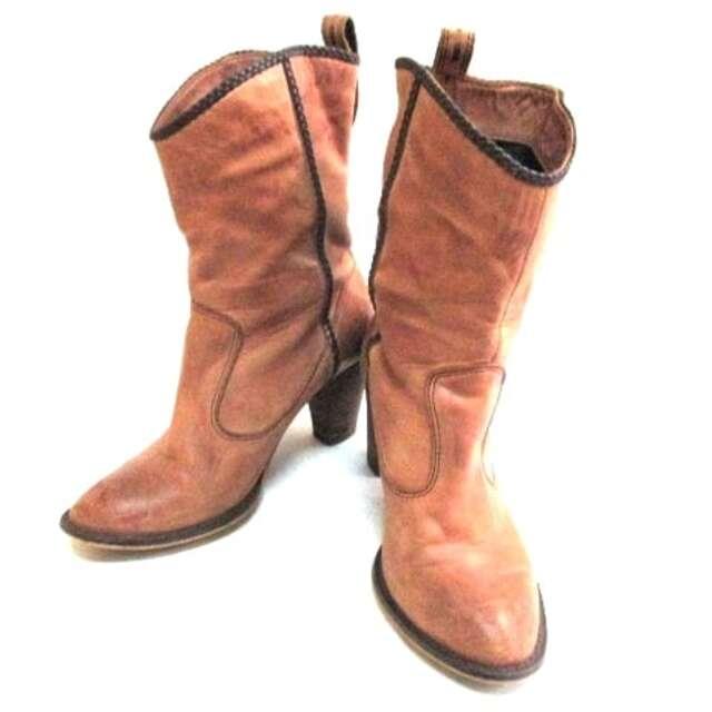 AU BANNISTER(オゥバニスター)のオウバニスター ショートブーツ 36 レザー レディースの靴/シューズ(ブーツ)の商品写真
