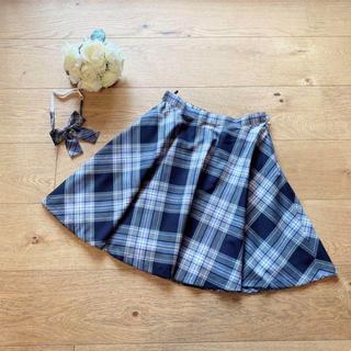 クミキョク(kumikyoku(組曲))の新品 組曲 スカート 青チェック  かわいい 150-160(スカート)