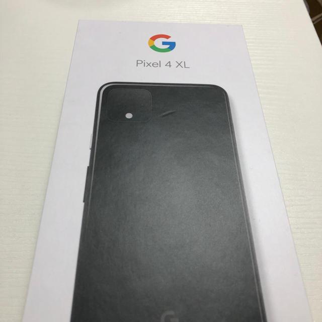Softbank(ソフトバンク)の[新品未使用]Google Pixel 4 XL 64GB  ブラック スマホ/家電/カメラのスマートフォン/携帯電話(スマートフォン本体)の商品写真