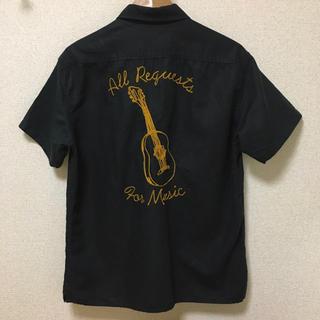 BEN DAVIS - Naval Tokyo ワークシャツ ギター チェーンステッチ刺繍 ブラック