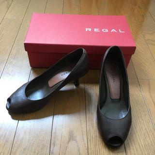 リーガル(REGAL)の送料込美品「リーガル REGAL オープントゥパンプス」(ハイヒール/パンプス)