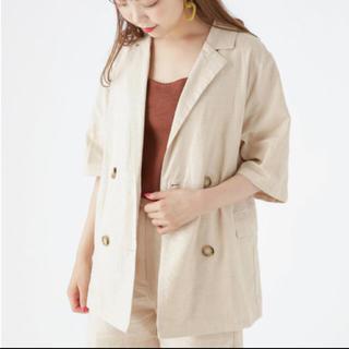 mystic - リネン混半袖ジャケット