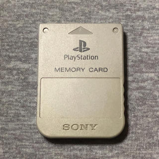 プレイステーション(PlayStation)のプレイステーション メモリーカード グレー(その他)