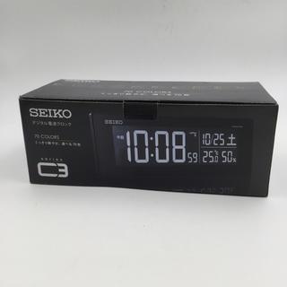 セイコー(SEIKO)の新品未使用セイコー クロックデジタル時計 C3 電波時計SEIKO DL305K(置時計)