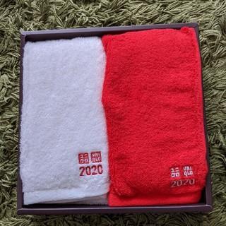 ユニクロ(UNIQLO)のユニクロ 2020 限定 タオル2枚セット(タオル/バス用品)
