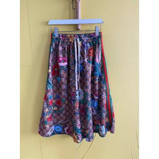 グッチ(Gucci)の《GUCCI》 GGフローラプリントのジャージードレス(ロングスカート)