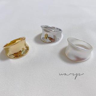 ジーナシス(JEANASIS)のwarp  ring  ○  gold  silver  matsilver(リング(指輪))