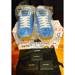 ドルチェアンドガッバーナ(DOLCE&GABBANA)の新品未使用ドルチェ&ガッバーナD&Gスニーカー25スエード靴ブルー6.5付属品(スニーカー)