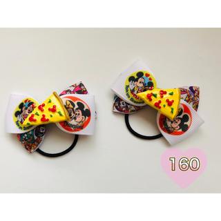ディズニー(Disney)の夢の国へ行きたーいリボンキッズヘアゴム No.160(ファッション雑貨)