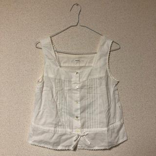 パーリッシィ(PAR ICI)のPAR ICI パーリッシィ ノースリーブ シャツ 白 ホワイト(シャツ/ブラウス(半袖/袖なし))