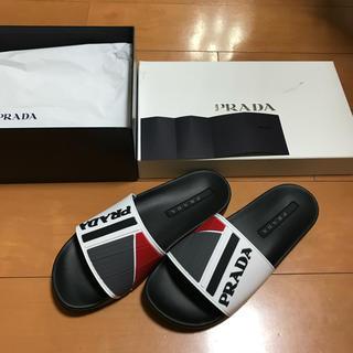 プラダ(PRADA)のPRADA ホワイトラバーサンダル 購入金額約58000円 確実正規品(サンダル)