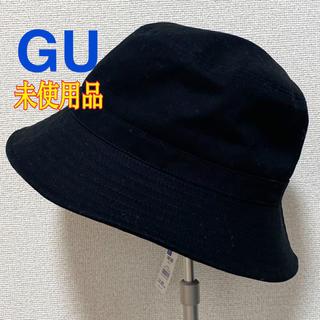 ジーユー(GU)の【新品】GU 帽子 レディース 黒(ハット)