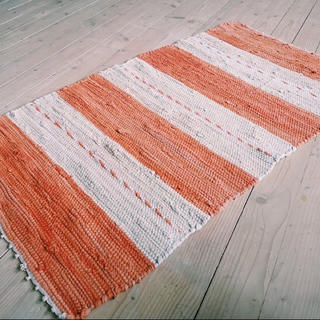 イデー(IDEE)の北欧ヴィンテージラグ スウェーデン産裂織ラグ テーブルランナー、玄関マット、風呂(ラグ)
