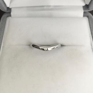 ティファニー(Tiffany & Co.)のティファニー 1p ダイヤモンド カーブド バンドリング Pt950 3.1g(リング(指輪))