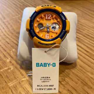 ベビージー(Baby-G)の[カシオ] 腕時計 ベビージー BGA-210-4BJF イエロー(腕時計)