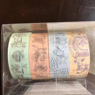 タリーズコーヒー(TULLY'S COFFEE)のタリーズバッグ鳥獣戯画 ★ マスキングテープ セット(テープ/マスキングテープ)