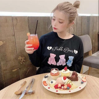 アンクルージュ(Ank Rouge)のAnk Rouge カラフルBearプリントロンTee(Tシャツ(長袖/七分))