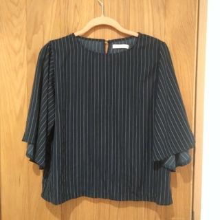 ショコラフィネローブ(chocol raffine robe)のネイビーストライプ ブラウス(シャツ/ブラウス(半袖/袖なし))