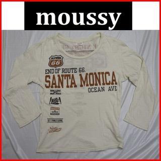 マウジー(moussy)のmoussy七分丈Tシャツ白ホワイト マウジーフェイクデリック(Tシャツ(長袖/七分))