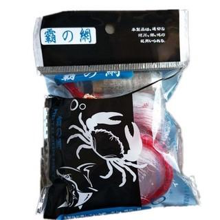 蟹網大 網目5㎝ 餌袋付き 3個セット カニアミ カニ網 オモリ50g(釣り糸/ライン)