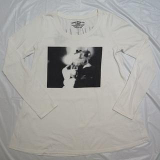 マウジー(moussy)のMOUSSY VINTAGEロング丈 長袖Tシャツ白ホワイト マウジー(Tシャツ(長袖/七分))