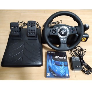 プレイステーション3(PlayStation3)のグランツーリスモ6とGT FORCE PROのセット(家庭用ゲームソフト)