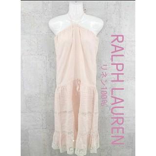 ラルフローレン(Ralph Lauren)のRALPH LAUREN ベアトップワンピース リネン100% 状態良好(ロングワンピース/マキシワンピース)