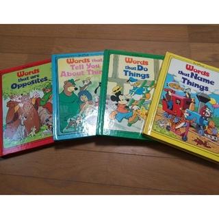 ディズニー(Disney)のディズニー 英単語絵本 4冊(絵本/児童書)