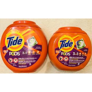 ピーアンドジー(P&G)の123個!アメリカ ジェルボール Tide pods タイド 81個+42個 (洗剤/柔軟剤)