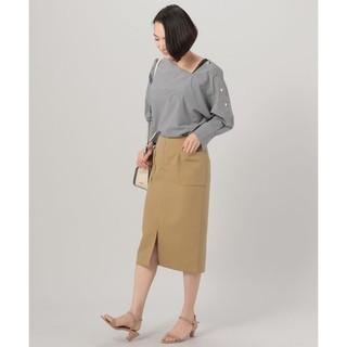 ドゥアルシーヴ(Doux archives)のドゥアルシーヴ フロントジップタイトスカート(ひざ丈スカート)