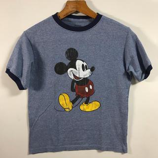 ミッキーマウス(ミッキーマウス)のDisney ディズニー ミッキー ミッキーマウス  リンガー 古着 アメカジ(Tシャツ(半袖/袖なし))