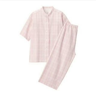 MUJI (無印良品) - 新品 無印良品脇に縫い目のないサッカー織り半袖パジャマ