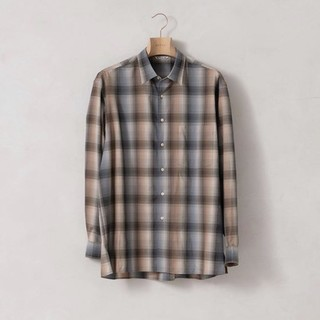 コモリ(COMOLI)のauralee super wool check shirt(ニット/セーター)
