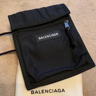 バレンシアガ(Balenciaga)のBALENCIAGA エクスプローラー ポシェット 黒 ナイロン(ショルダーバッグ)